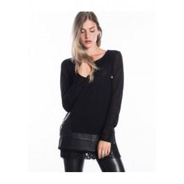 Černý svetr W16IA21 UNI černá