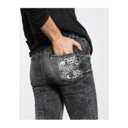 Šedé jeans W16IA08 L šedá