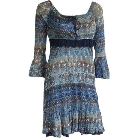 Modré šaty Talco Te05 S modrá
