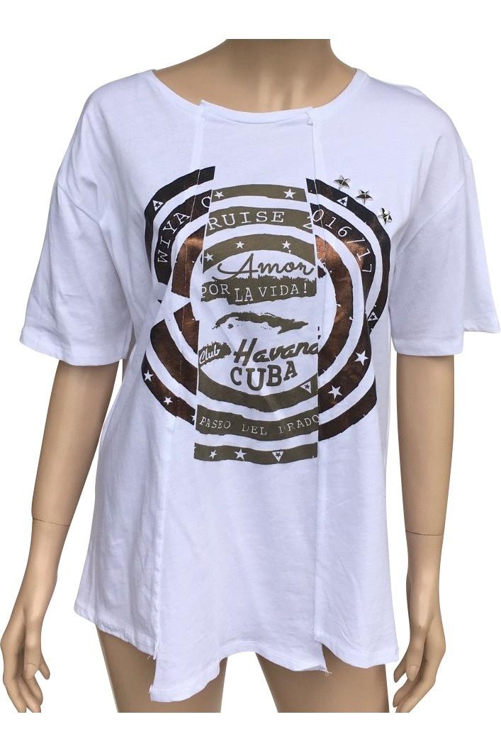 Bílé tričko W16PE08 UNI bílá