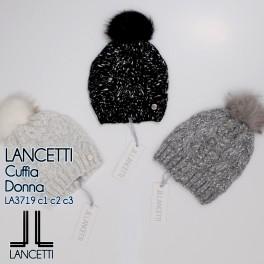 Čepice s bambulí Lancetti bílá