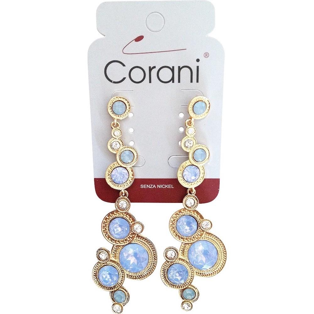 Modré náušnice Corani C8
