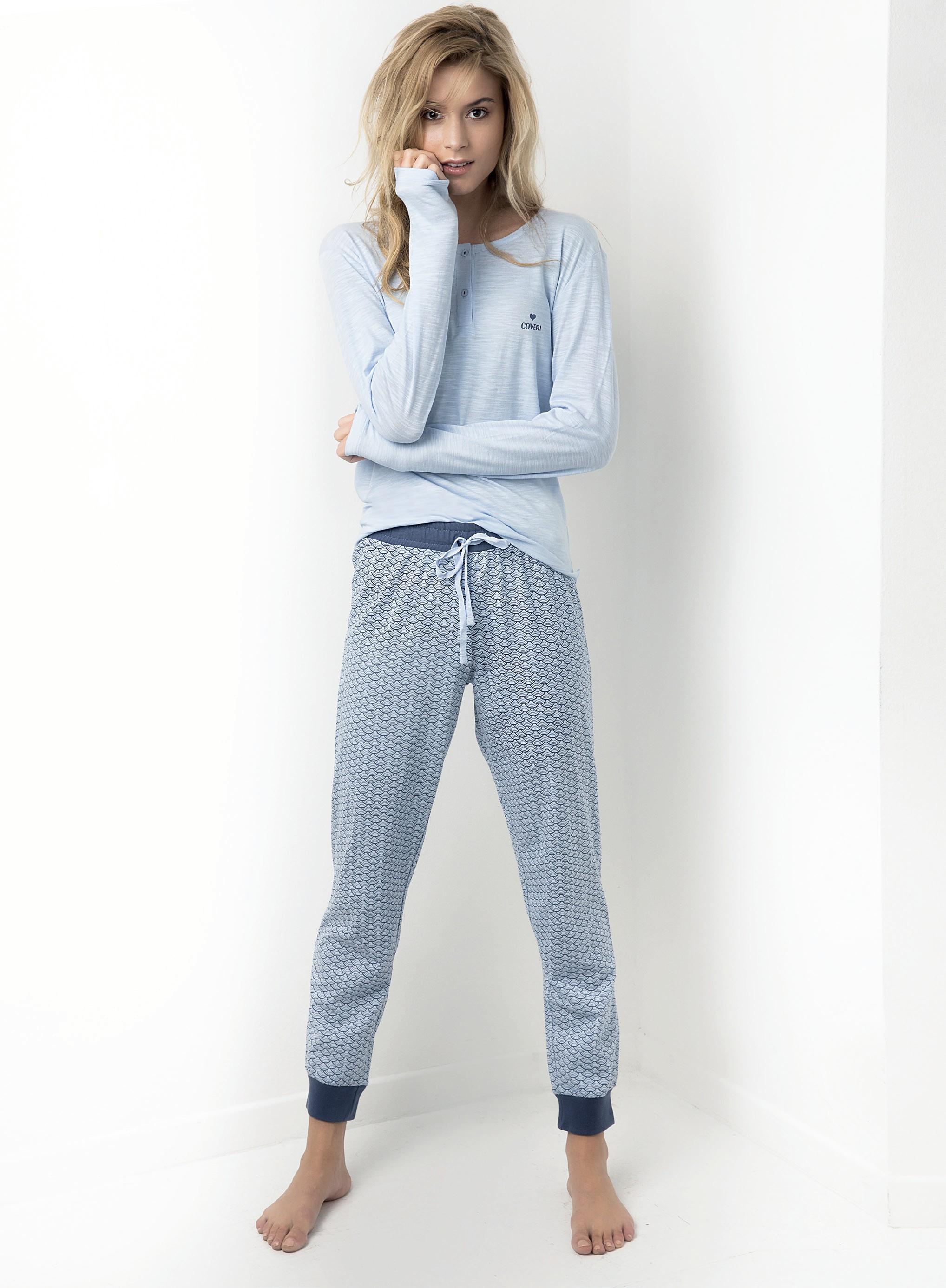 Modré pyžamo Coveri M korálová