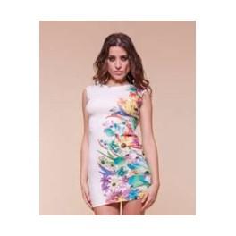 Barevný top/šaty A114 M/L smetanová