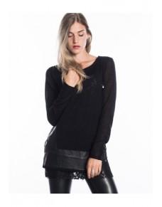 Černý svetr W16IA21