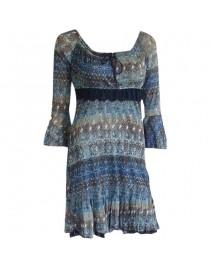 Modré šaty Talco Te05