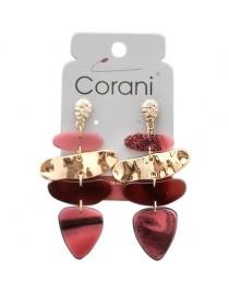 Růžové náušnice Corani