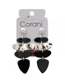 Černé náušnice Corani