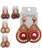 Dřevěné náušnice Corani