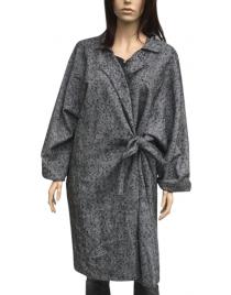 Šedý kabát W17IA28
