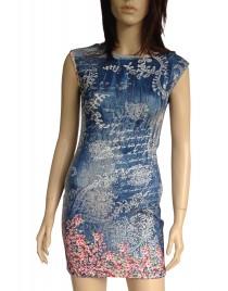 Barevný top/šaty A114
