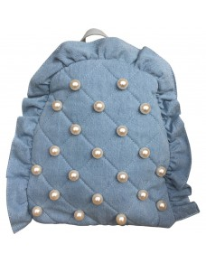 Backpack with pearls