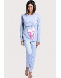 Modro-šedé pyžamo Cotonella