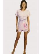 Růžové pyžamo Cotonella