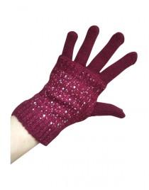 Bordó rukavice kamínky