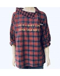 Kostkatá košile s broží