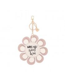 Pink flower Keyring
